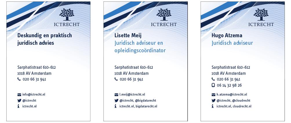 Visitekaartjes ICTRecht