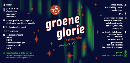 Etiket groene glorie Koper