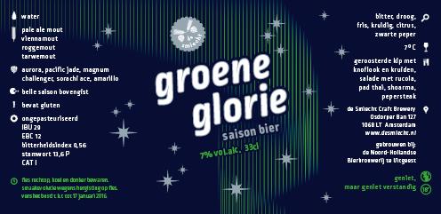 Etiket groene glorie Zilver